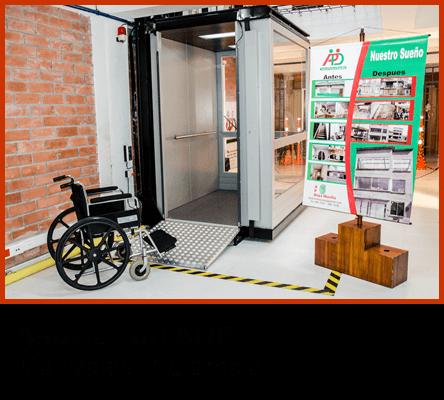 Ascensor de discapacitados Asociación de Personas con Discapacidades ADP Manizales